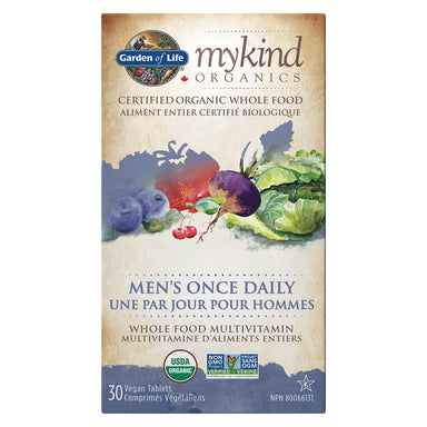 Box of myKind Organics Men's Once Daily 30 Vegan Tablets