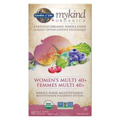 Box of Garden of Life myKind Organics Women's Multi 40+ 60 Vegan Tablets