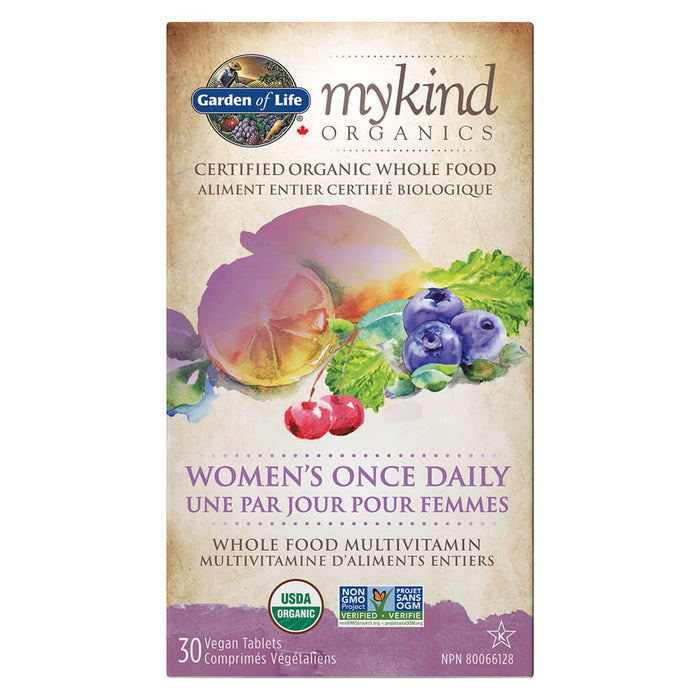 Box of myKind Organics Women's Once Daily 30 Vegan Tablets
