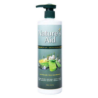 Pump Bottle of Nature's Aid Natural, Multi-Purpose Skin Gel 500 Milliliters