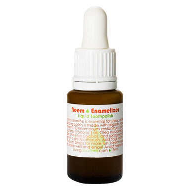 Dropper Bottle of Living Libations Neem Enamelizer Liquid Toothpolish 15 Milliliters