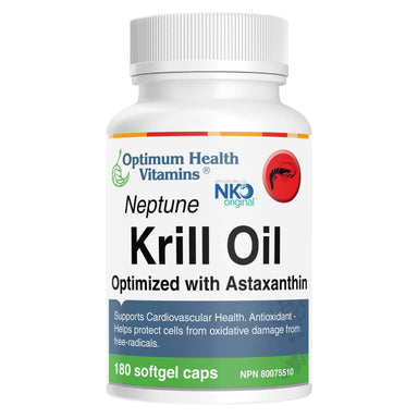 Bottle of Neptune Krill Oil 180 Softgels