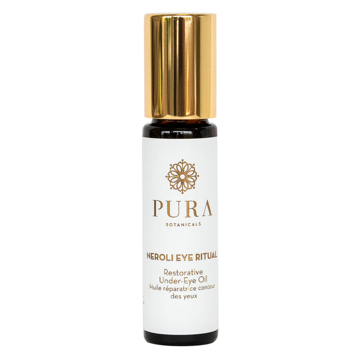 Roller Bottle of Pura Botanicals Neroli Eye Ritual 0.3 Ounces