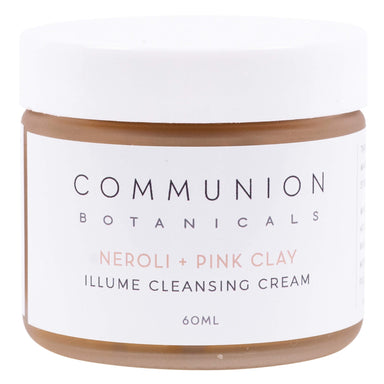 Jar of Communion Botanicals Neroli + Pink Clay Illume Cleansing Cream 60 Milliliters