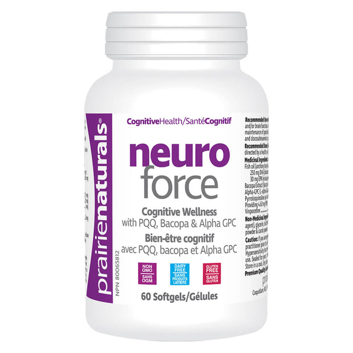 Bottle of Neuro Force 60 Softgels