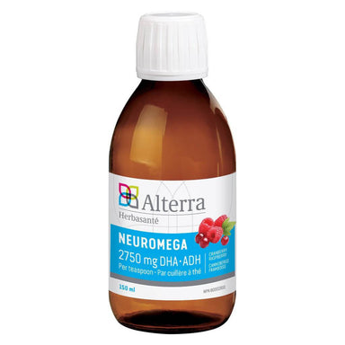 Bottle of Alterra Neuromega Cranberry Raspberry 150 Milliliters