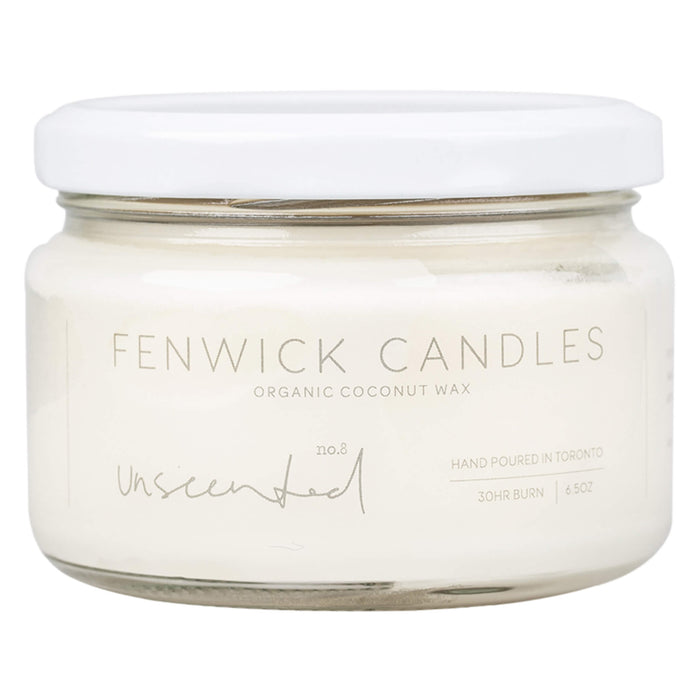 Jar of Fenwick Candles No. 8 - Unscented 6.5 Ounces