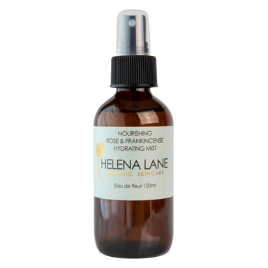 Spray Bottle of Helena Lane Nourishing Rose & Frankincense Hydrating Mist 120 Milliliters