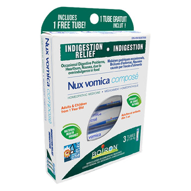 Box of Boiron Nux Vomica Composé 3 x 80 Pellets