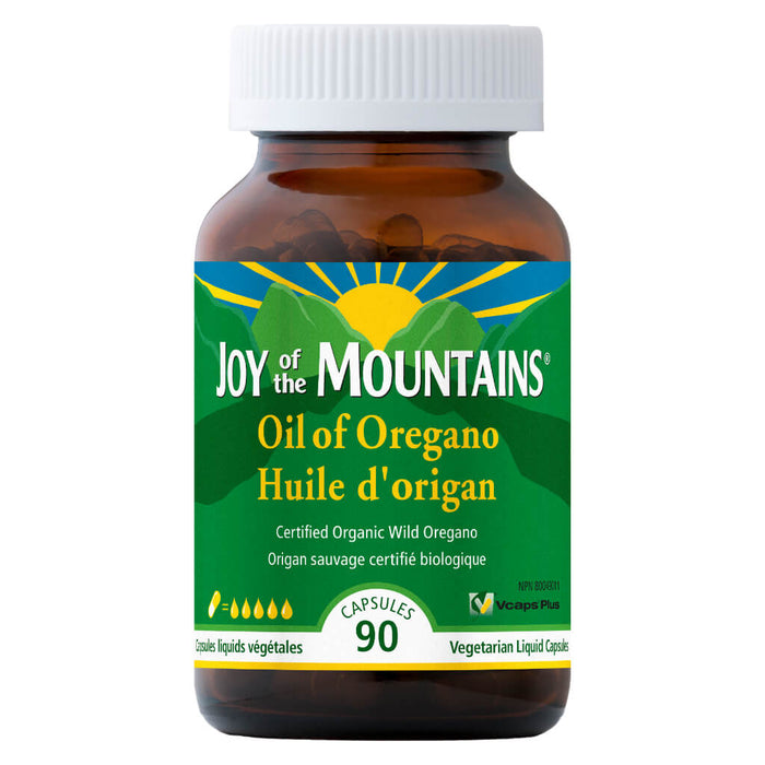 Bottle of Oil of Oregano Capsules Certified Organic 90 Capsules