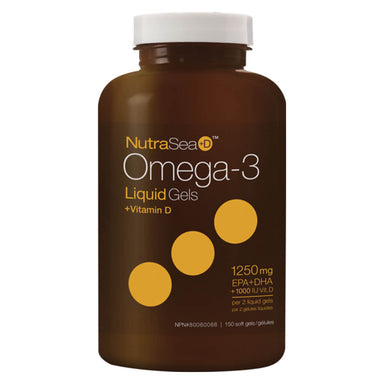 NutraSea+D™ Omega-3 Liquid Gels Fresh Mint 150 Softgels