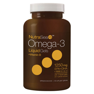 NutraSea+D™ Omega-3 Liquid Gels Fresh Mint 60 Softgels