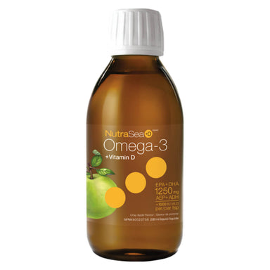NutraSea +D Omega-3 Liquid Crisp Apple 200 Milliliters