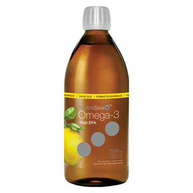 NutraSea HP High EPA Omega-3 Liquid Zesty Lemon 500 Milliliters