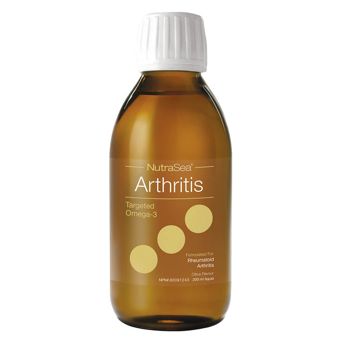 Bottle of NutraSea Arthritis Targeted Omega-3 Citrus Flavour 200 Milliliters