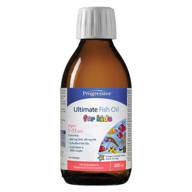 Bottle of Progressive Omegessential for Kids 200 Milliliters