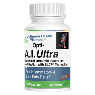 Bottle of Opti-A.I. Ultra 120 Capsules