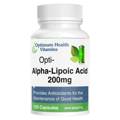 Bottle of Opti-Alpha-Lipoic Acid 120 Capsules