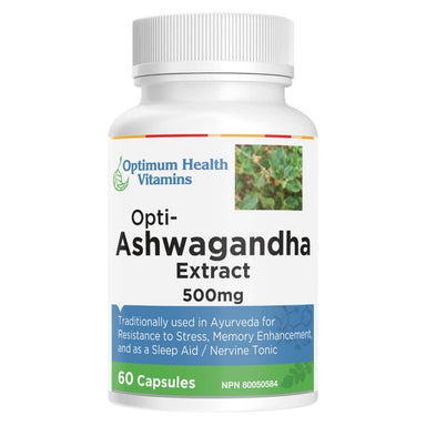 Bottle of Opti-Ashwagandha Extract 60 Capsules