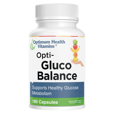 Bottle of Opti-Gluco Balance 180 Capsules