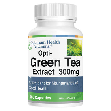 Bottle of Opti-Green Tea Extract 300 mg 180 Capsules