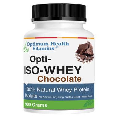 Container of Opti-ISO Whey Chocolate 900 Grams