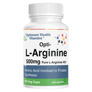 Bottle of Opti-L-Arginine 270 Vegetable Capsules