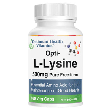 Bottle of Opti-L-Lysine 180 Vegetable Capsules