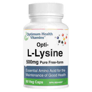 Bottle of Opti-L-Lysine 90 Vegetable Capsules