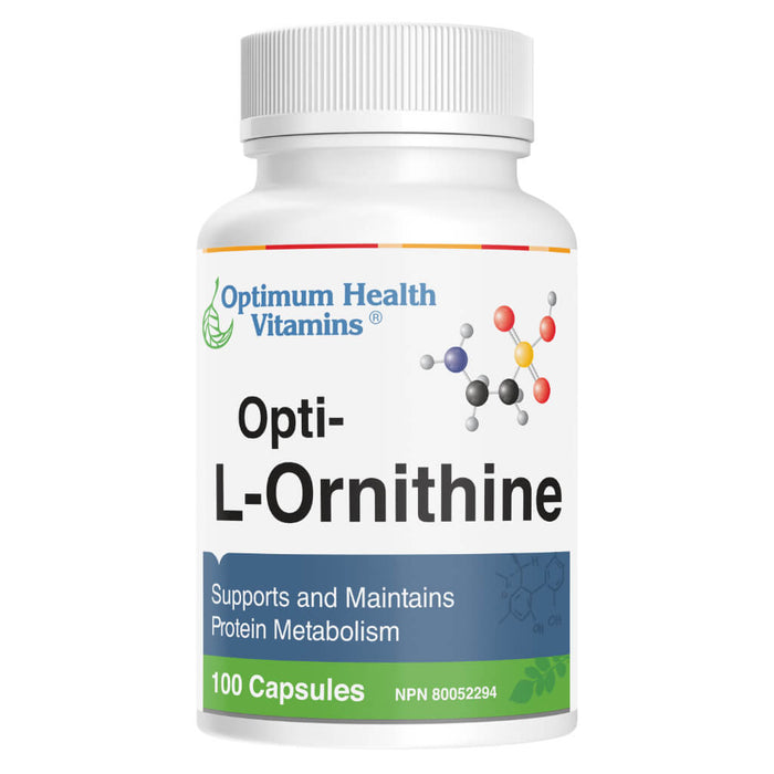 Bottle of Opti-L-Ornithine 100 Capsules