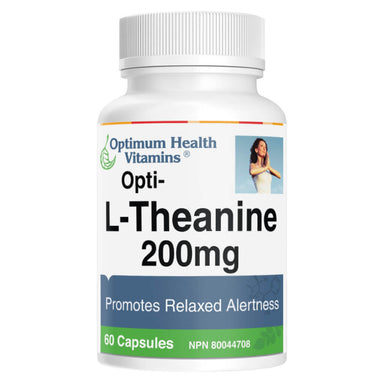 Bottle of Opti-L-Theanine 200 mg 60 Capsules