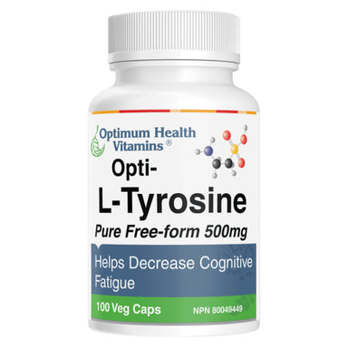 Bottle of L-Tyrosine 100 Capsules