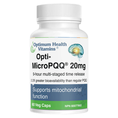 Bottle of Opti-MicroPQQ® 20 mg 60 Vegetable Capsules