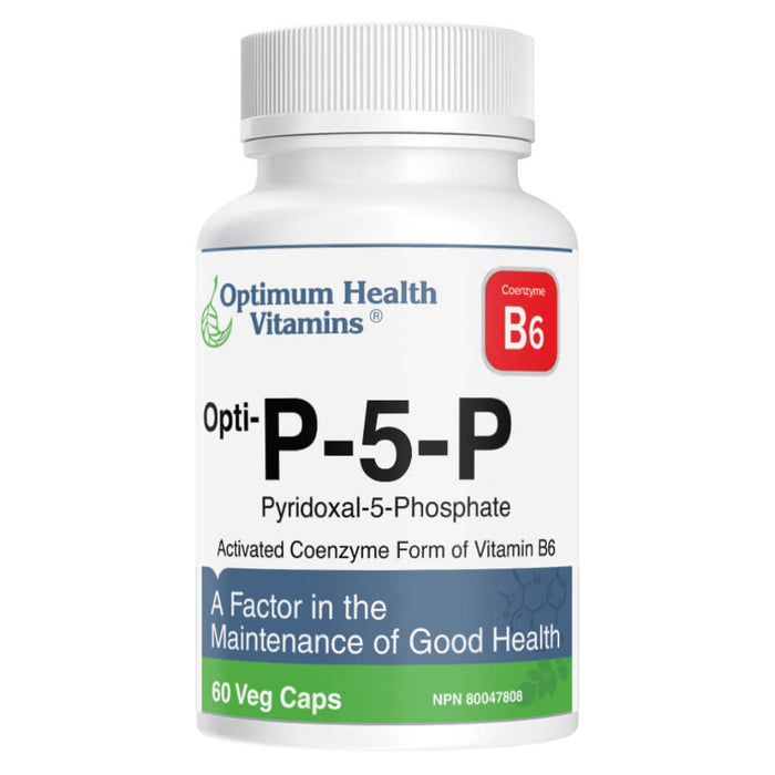 Bottle of Opti-P-5-P Vegetable Capsules