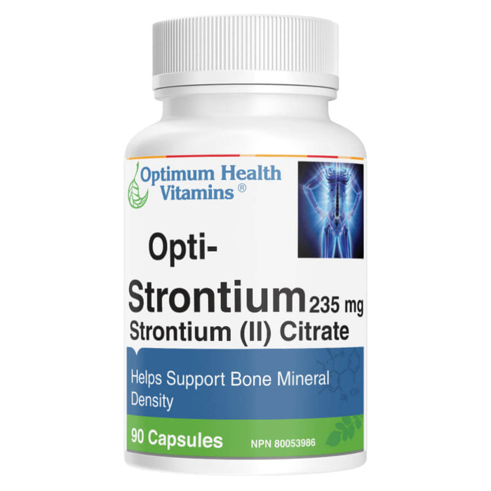 Bottle of Opti-Strontium 235 mg 90 Capsules
