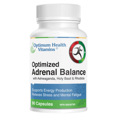 Bottle of Optimized Adrenal Balance 90 Capsules
