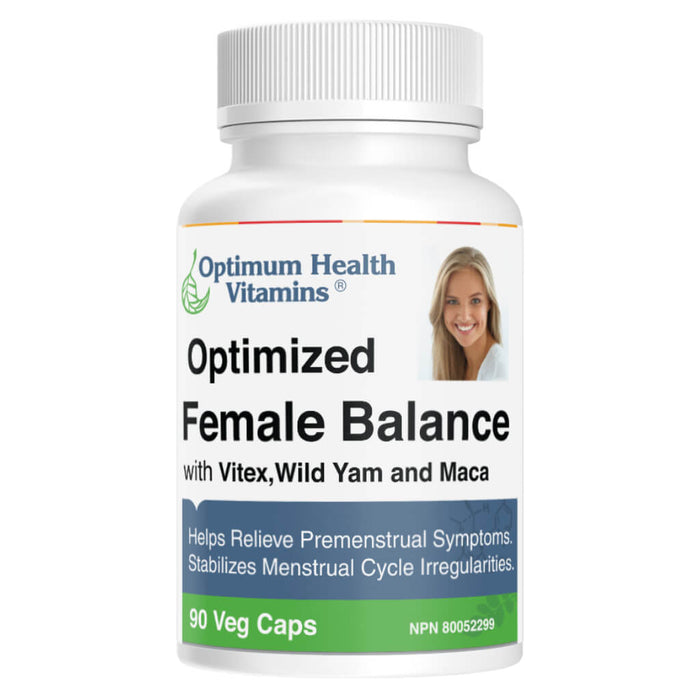 Bottle of Optimized Female Balance 90 Vegetable Capsules