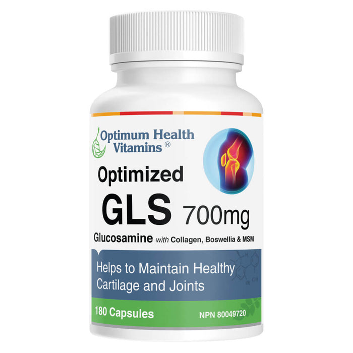 Bottle of Optimized GLS 180 Capsules