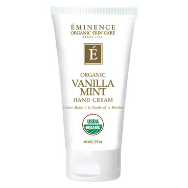 Bottle of Eminence Organic Vanilla Mint Hand Cream 60 Milliliters