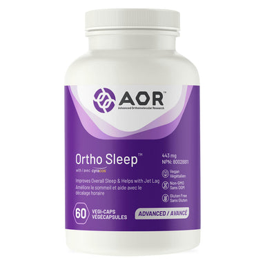 Bottle of AOR Ortho Sleep 443 mg 60 Vegetarian Capsules