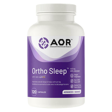 Bottle of AOR Ortho Sleep 443 mg 120 Capsules