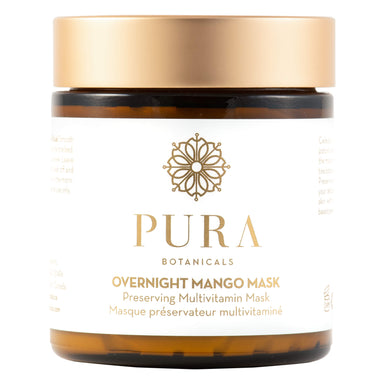 Jar of Pura Botanicals Overnight Mango Mask 4 Ounces
