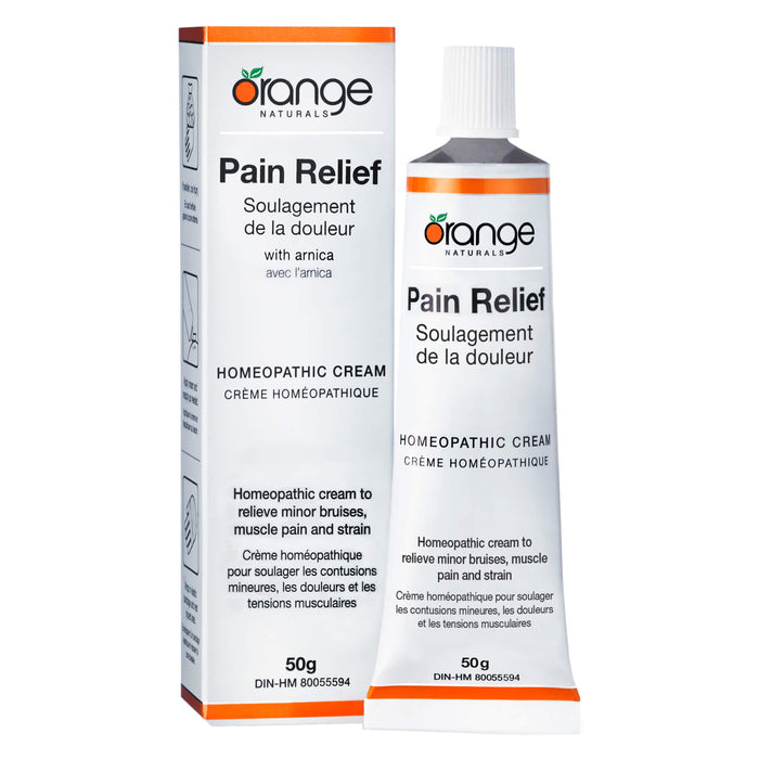 Box and Tube of Orange Naturals Pain Relief Cream 50 Grams