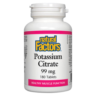 Bottle of Potassium Citrate 99 mg 180 Tablets
