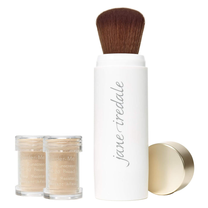 Jane Iredale Powder-Me SPF® 30 Dry Sunscreen MakeUp Brush and Refills