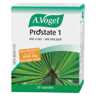 Box of A. Vogel Prostate 1 One A Day 30 Capsules | Optimum Health Vitamins, Canada