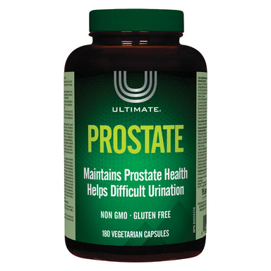 Bottle of Ultimate Prostate 180 Vegetarian Capsules