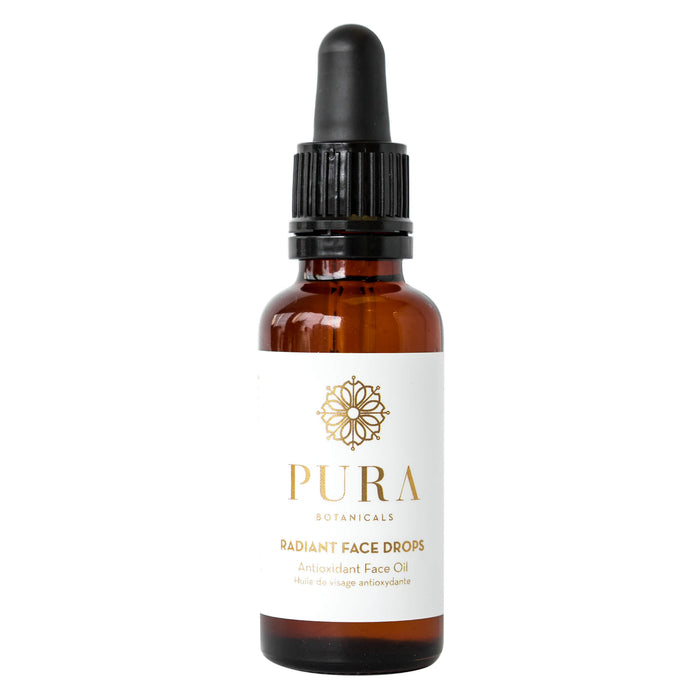 Dropper Bottle of Pura Botanicals Radiant Face Drops 1 Ounce