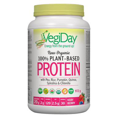 Container of Very Berry Organic Plant-Based Protein 972 Grams
