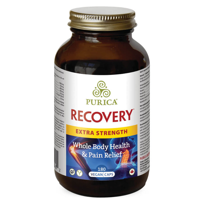 Bottle of Recovery Extra Strength 180 Vegan Capsules